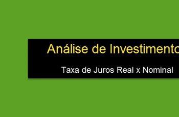 taxa real análise de investimentos