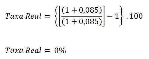 calcular a taxa real de juros