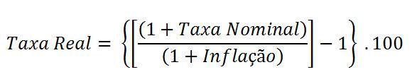 fórmula taxa real